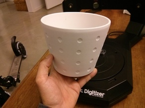 Digitized dimpled flower pot