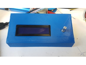 Case for 16x2 LCD and Rotary Encoder