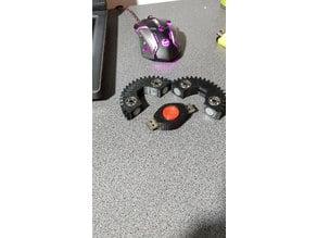 flash drive fidget spinner with mechanical gear design