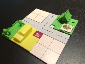 Food Chain Magnate Game Pieces