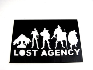 Lost Agency Stencil