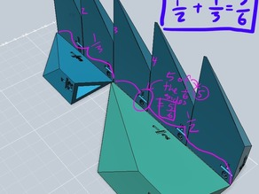 Euclidean Shards - Fraction Prism Math Manipulative