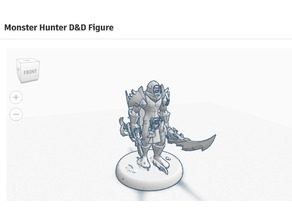 Monster Hunter D&D FIgure