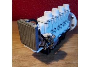 Radiateur, ventilateur, durite, alternateur pour moteur a air / Radiator, fan, hose alternator Pneumatic Air Engine