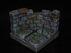 OpenForge Curved Ruined Wall Tile