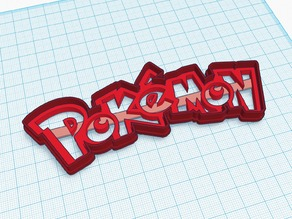 Pokemon Logo - Shape Cutter (Cookies / Cakes / Play-doh!)