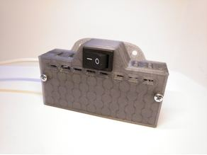Battery case 18650 with room for charger and step-up converter