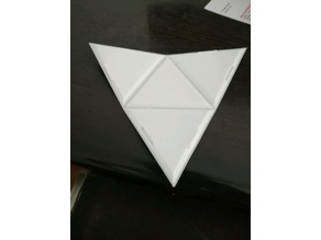 Foldable 3D printable 3 sided pyramid with internal locks