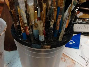 Paint Brush Holder for Plastic Cup