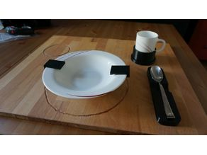 Dishes Holder - daily living aid for the visually impaired