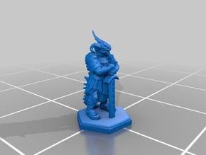 RPG Miniature - Dragonborn / Draconato