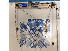 Makelangelo whiteboard mounting hooks