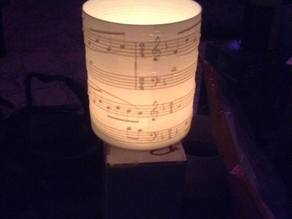 Sounds of silence tea light candle lantern