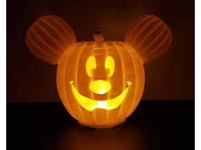 Mickey Pumpkin Main St. USA Tealight