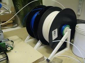 Dual spool/reel rack/holder