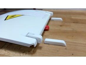 Pant/hinge for repair of switchboard cabinet.
