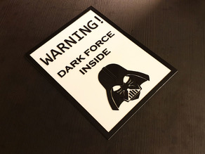 Star Wars Warning Sign