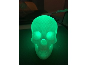 Halloween Skull With Glowing Eyes