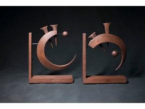 Allomantic Symbol Bookends (Iron)