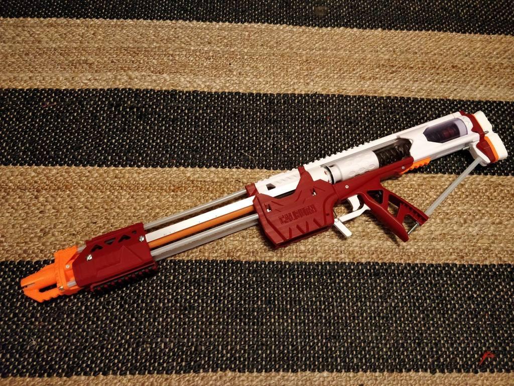 Caliburn Mag-Fed Pump-Action Nerf Blaster by captainslug
