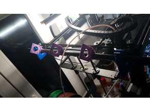 Simple Carbon Tube holder for v-slot