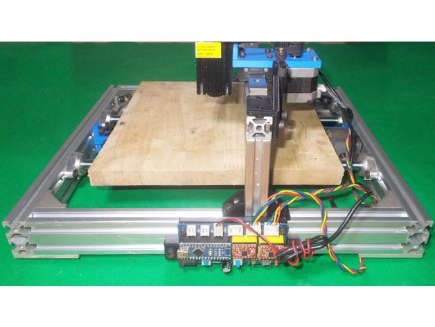 052-Homemade Laser Plotter Draw Mill 3D Printer Arduino