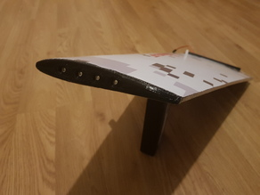 Vortigaunt wing tip covers with optional LEDs