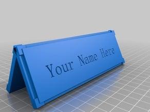 Custom Nameplate - 140x45mm