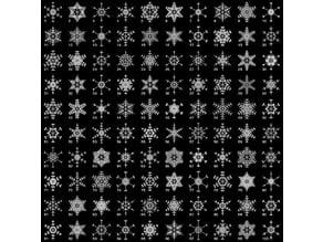 Random fractal snowflake in BlocksCAD