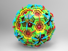 Icosahedron truncated