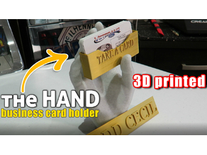 the HAND Business Card Holder