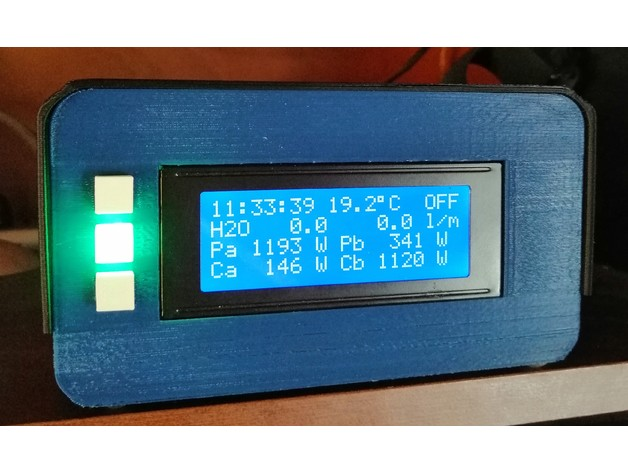 Case for Arduino with 20x4 lcd display and square led cover