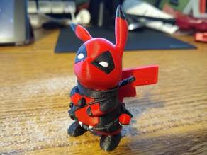 DeadPool Pikachu Multicolor Remix