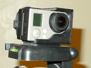 GoPro3+ with Suptig Screen Tripod Quick Mount