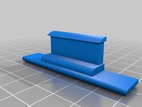 Replicator 2 rear back Bed platform clip mount