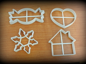 Set of simple Christmas cutters