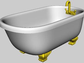 claw footed  tub.