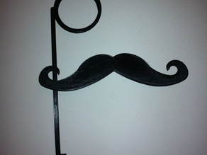 Mustache and Monocle on a thin Stick