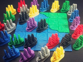 Galleon Board Game Piece