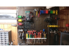 Pegboard collection square hole wall hooks