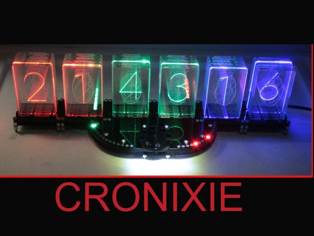 cronixie the led nixie clock ws2812 cronios modul by folker thingiverse. Black Bedroom Furniture Sets. Home Design Ideas