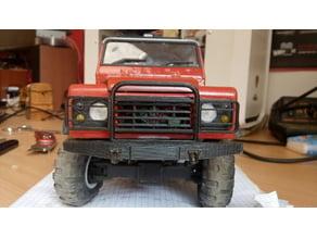 extendet front bumper for 3D printed Land Rover Defender