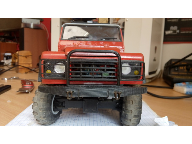 extendet front bumper for 3D printed Land Rover Defender by