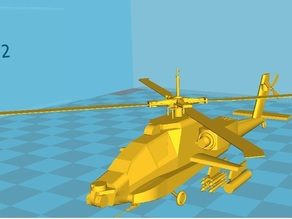 Apache AH64-A Helicopter model