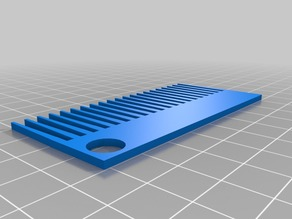 3D Printable Hair Comb