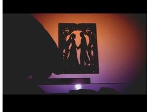 bb silueta stencil enamorados