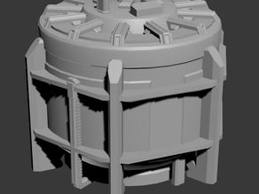 Sci-fi Chemical Plant - Storage Tank