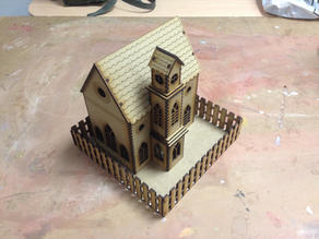 Lasercut simple church (no cross)