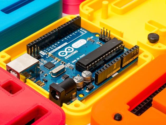 3D Printed Case for Arduino Uno, Leonardo  by ZygmuntW