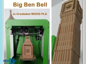 Big Ben Bell in Wood Filament